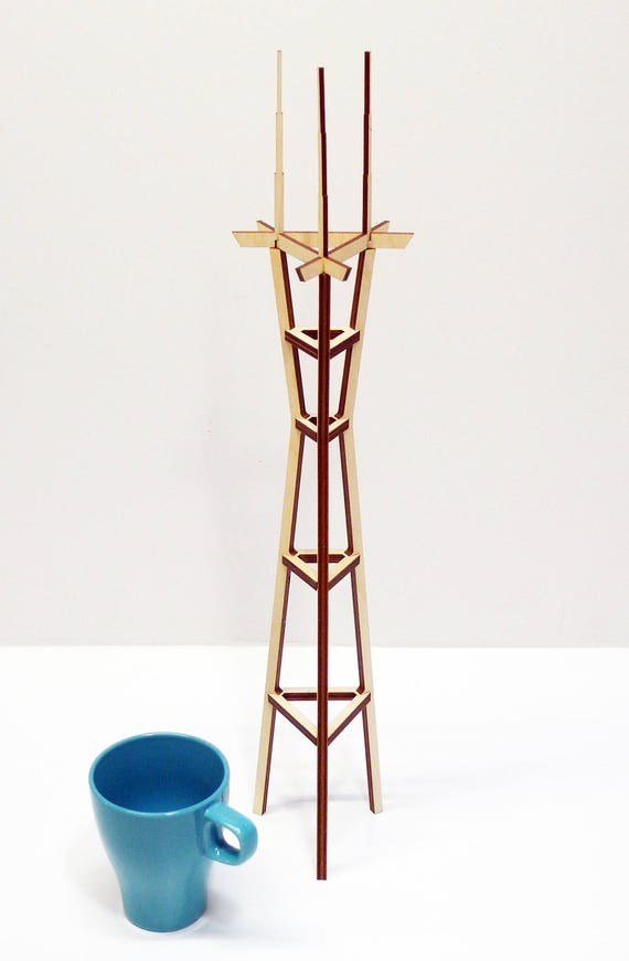 Sutro Tower, Birch Plywood kit