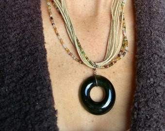 Recycled Wine Bottle Necklace