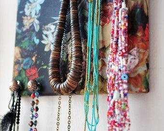 Floral jewelry organiser.Wall organiser.Jewellery hanging.Jewelry storage