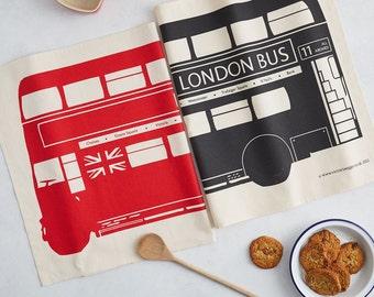 London Bus Tea Towel