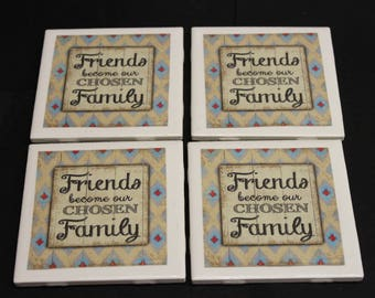 Family/Friends Ceramic Drink Coasters