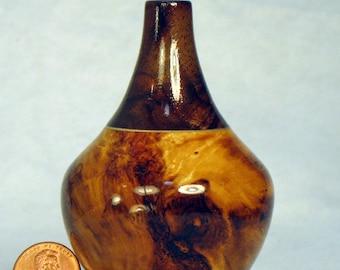 Cottonwood and Walnut Turned Wood Pot or Vase