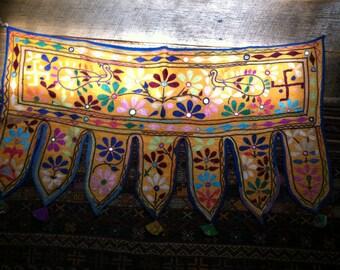 Vintage Banjara Tribal Textile Door Toran