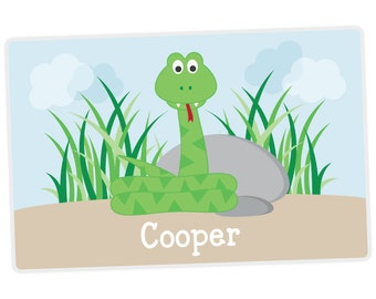 Snake Placemat - Personalized Placemat for Kids - Custom Kids Placemat - laminated, double-sided - Handwriting Place Mat
