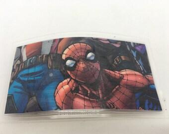 Upcycled - Spiderman - Comic Book- - Hair Clip - Barrette - Comic Con - Fashion - Laminated - Fan