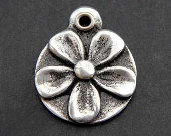 Flower Dog Jewelry - Pet ID Tag for Pet - Floral - Dog Collar Tag - Dog Tag for Dog - Hand Stamped