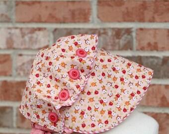 Bonnet Pattern /  Josie Mae Bonnet / Baby Bonnet / Vintage Inspired Bonnet / Wide Brim / Button Brim / Cottage Momma