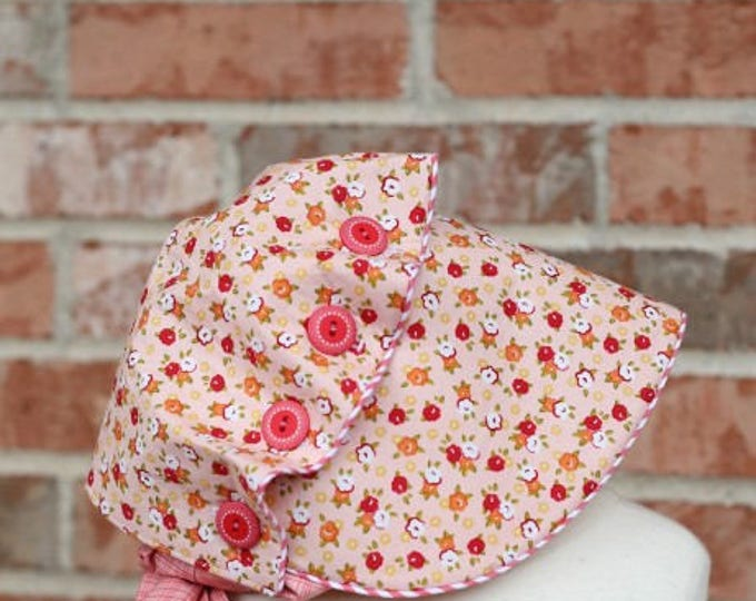 Bonnet Pattern /  Josie Mae Bonnet / Baby Bonnet / Vintage Inspired Bonnet / Wide Brim / Button Brim / Cottage Momma