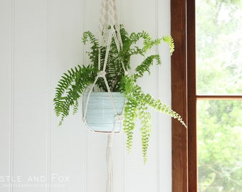 Large Macrame Plant Hanger - Della, Natural Cotton Rope Hanger, Hanging Planter | Made to Order |Free Shipping Australia
