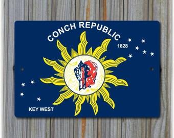 Key West - Conch Republic Sign