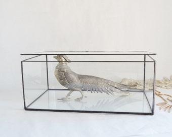Glass Box, Wedding Card Box, Glass Jewelry Box, Wedding Display Box, Clear Glass Jewelry Box