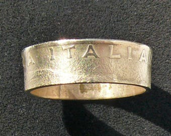 Bronze Coin Ring 1979 Italy 200 Lire , Ring Size 8 1/2 and Double Sided