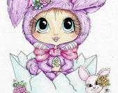 INSTANT DOWNLOAD Digital Digi Stamps Big Eye Big Head Dolls Bestie Scan0023 Bunny Besties TM By Sherri Baldy