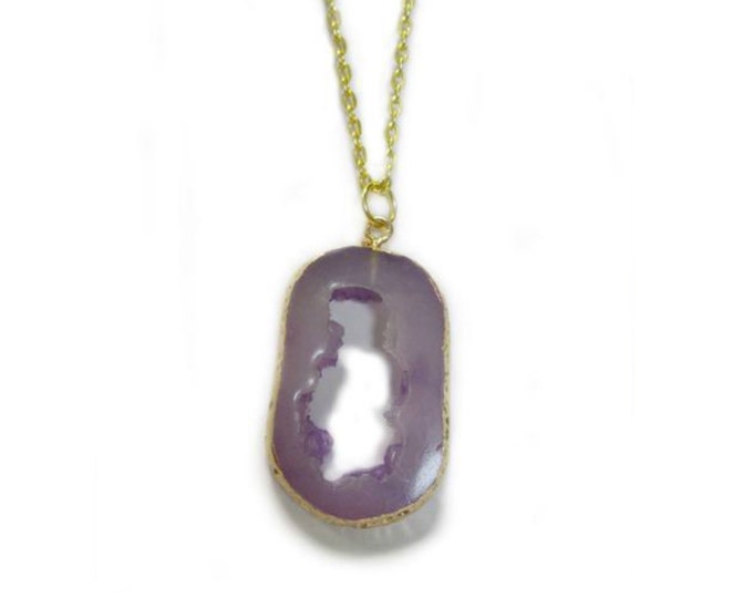 Lilac Amethyst Golden Chain Necklace