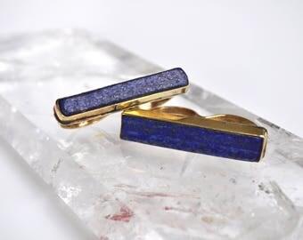 Two Finger Lapis Slab Bar Ring