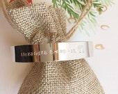 Wide Cuff Bracelet / Personalized Cuff Bracelet /Custom Wide Cuff Bracelet / Engraved Cuff Bracelet /Custom Coordinates Bracelet / Gift Idea