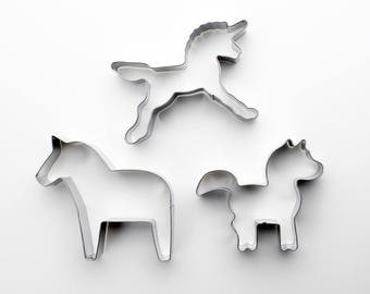 Unicorn Cookie Cutters Pony Biscuit Cutter/Horse Cookie Mold/Dough Cutter/Fondant Tools/Baking Supply/Theme Party