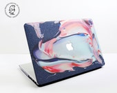 Beautiful Mix of Glittery Blue Pink and White Paints  MacBook Hard Protective Case for MacBook Pro Air Air Retina Pro Retina  2016 Pro