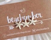 beach anklet, starfish anklet, beachcomber jewelry, bohemian anklet, friendship bracelet , beach bracelet