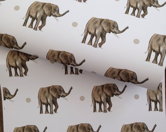 Elephant wrapping paper, gift wrap, for elephant lovers, elephants, read description