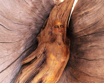 Reserved for Noelle, June 3 of 3, Spiritual Beings, Driftwood Woman, by Debra Bernier
