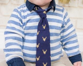 Boys Deer Tie, Deer Tie, Baby Tie, Boys Tie, Baby Boys Tie, Gold Deer Tie, Baby Tie, Toddler Tie, Childrens Tie, Wedding Tie, Baby Ties