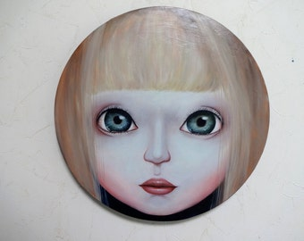 "Original Small Painting ""Ashley"" Girl"