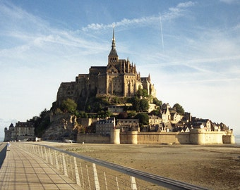 Mont Saint Michel - large limited edition fine art photography print  - 50x70 and 70x100 cm - analog photography series - France