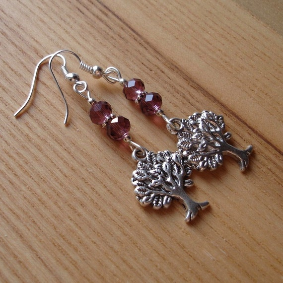 Tree of Life, Tree Earrings, Charm Jewellery, Unique Gift for Her, Inexpensive Earrings, Cute Teen Jewellery, 16th Birthday Gift Sister