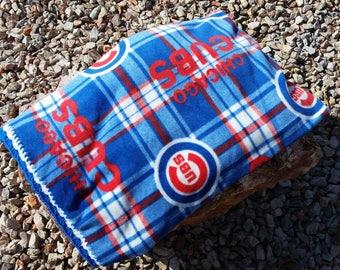 Chicago Cubs Crocheted Fleece Blanket