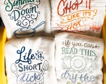Sassy Dish towel, funny quotes, housewarming gift, host or hostess  gift