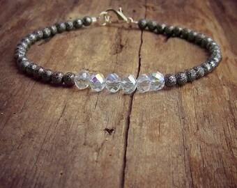 Crystal Friendship Bracelet • Delicate Crystal Bracelet • Bridesmaid Bracelet • Minimal Bracelet • Beaded Bracelet • Dainty Jewelry