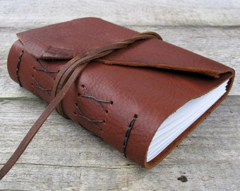 Leather journal with Leonardo da Vinci quote, rustic leather journal, sketchbook, inspiration journal by moon and hare