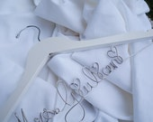 Personalized Coathangers, Wedding Gown Hanger, Custom Name Hangar, Bridal Gifts
