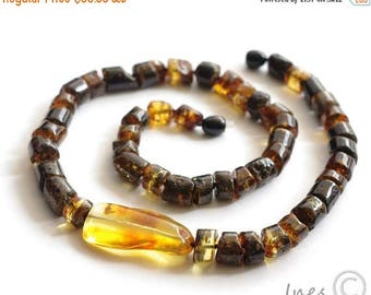 CHRISTMAS SALE Baltic Amber Necklace With Pendant