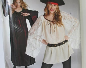 Halloween Pirate and witch Costmes Paper Pattern Simplicity SO322 Adult size Misses' 8-18   un-cut paper pattern