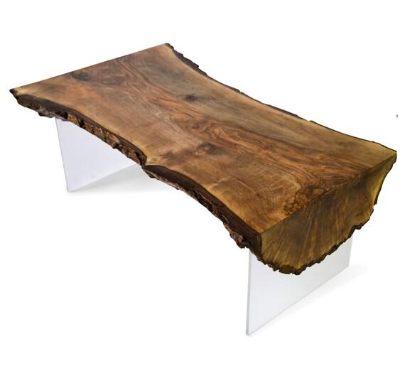 Tree Slice Table Natural Live Edge English Walnut Slab Coffee