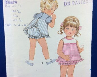 Butterick 5670 - Size 3 - Toddler One Piece Dress and Bloomers - Cut/Complete