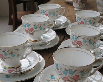 Royal Stafford 'Cloverbel' vintage china tea cup trio