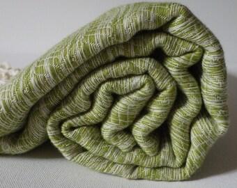 Turkish Towel Bamboo Peshtemal Towel hand loomed Sprinkled Peshtemal in green Pure Soft