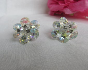 Earrings - Crystal Earrings - Vendome Earrings - Vintage