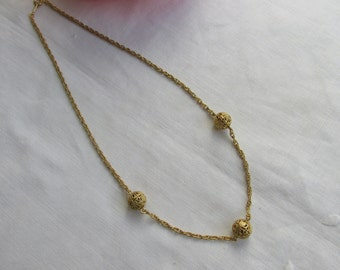 Necklace - Filigree Beads - Vintage