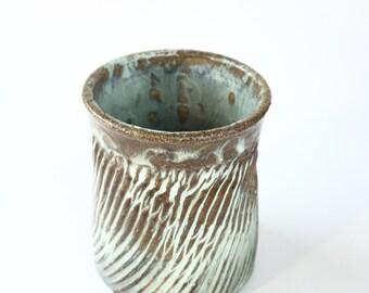 Pottery Mug, Ceramic Tumbler, Wheel Thrown Pottery Mug, Stoneware Mug. Glazed in Sea Foam Green.