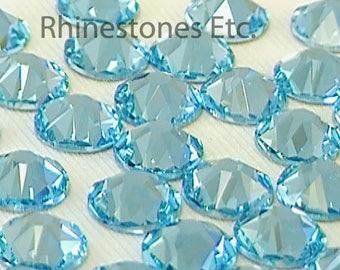 Light Turquoise 34ss Swarovski Elements Rhinestones Flat back 10 pieces