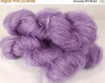 50% off SALE Kid Mohair/wool/nylon ( 75/20/5)  - Chunky( ?) -  Naturally Dyed Yarn- 50 g. - Logwood