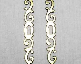 Pair of French Escutcheons, Brass Key Plate, French Key Plate, Door Furniture, Door Decoration, Vintage Escutcheons, Vintage Key Plate (309)