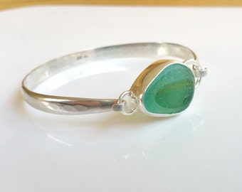 Classic Sea glass Bracelet, Sterling Silver