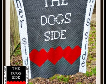 Dogs Side, C2C Graph, and Written Word Chart, Corner to Corner, Dogs Side C2C Graph