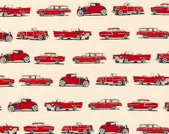 Old Guys Rule Red Classic Cars by Robert Kaufman