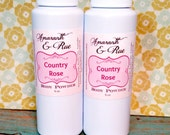 Natural Body Powder | Country Rose | Cornstarch and talc free